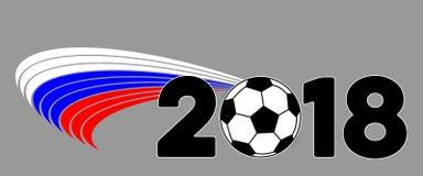 Знамя предпосылки с флагом и 2018 России Стоковые Фотографии RF