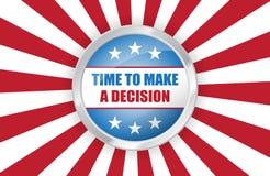Знамя президентских выборов США голосования вектора Стоковое фото RF