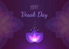 Знамя предпосылки дня Vesak горизонтальное приветствие дня карточки irises вектор мати s Стоковые Изображения