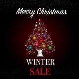 Знамя продажи зимы Стоковое Фото