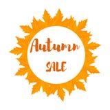 Знамя продажи листвы осени Стоковые Фотографии RF