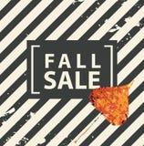 Знамя продажи падения с яркими лист тополя осени иллюстрация штока