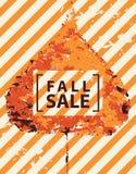 Знамя продажи падения с яркими лист тополя осени иллюстрация вектора