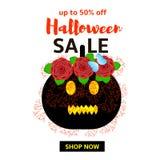 Знамя продажи хеллоуина Стоковая Фотография RF
