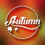 Знамя/плакат приветствию сезона осени Стоковая Фотография