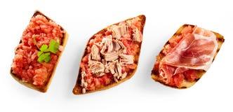 Знамя рекламы с различным tostrada 3 Стоковые Фотографии RF