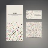 Знамя рогульки брошюры дела, визитная карточка и карточка с швом Стоковые Изображения