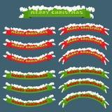 Знамя рождества с снегом Стоковое Изображение RF