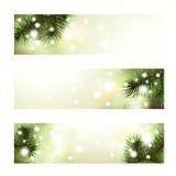Знамя рождества зеленое Стоковое Изображение RF
