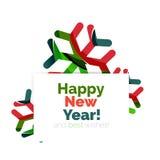 Знамя рождества и Нового Года геометрическое с текстом Стоковые Фотографии RF
