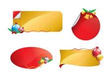 Знамя рождества установило 1 Стоковая Фотография RF
