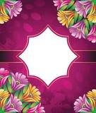Знамя сбора винограда вектора цветков Стоковое Изображение RF