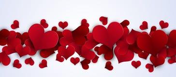 Знамя сердец валентинки красное Стоковое фото RF