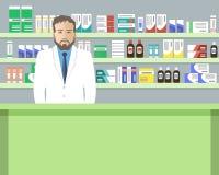 Знамя сети аптекаря Стоковое Изображение RF
