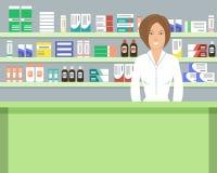 Знамя сети аптекаря Стоковое фото RF
