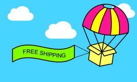 Знамя сети бесплатно грузить или электронная коммерция иллюстрация вектора