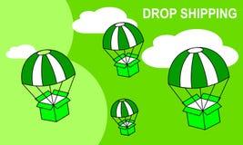 Знамя сети для доставки или электронной коммерции падения иллюстрация штока