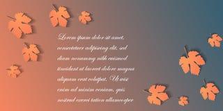 Знамя сети нормального размера с листьями осени Стоковые Фотографии RF