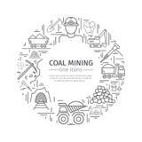 Знамя сети добычи угля бесплатная иллюстрация