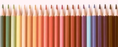 Знамя сети покрашенной предпосылки серии карандашей Стоковые Фотографии RF