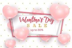 Знамя сети продажи дня ` s валентинки, концепция рогульки Стоковое Фото