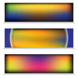 Знамя сети радуги хрома металла Titanium Стоковое фото RF
