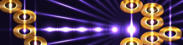 Знамя силы круга сетчатое золотое Стоковые Фотографии RF