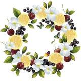 Знамя смешивания цветка в круге Стоковая Фотография