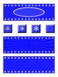 Знамя снежинки и комплект кнопки Стоковое фото RF