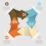 Знамя современных вариантов стиля origami дела бумажное Стоковая Фотография