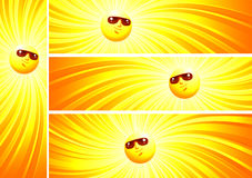 знамя солнечное Стоковое Изображение RF