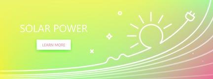 Знамя солнечной энергии Стоковая Фотография