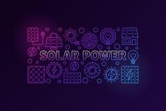 Знамя солнечной энергии красочное Стоковое Фото