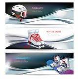 Знамя спорт зимы активное иллюстрация вектора