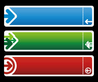 знамя стрелок Стоковые Фотографии RF