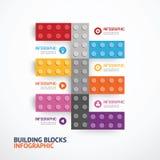 Знамя строительных блоков шаблона Infographic вектор концепции Стоковое Фото