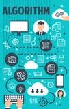 Знамя схемы технологического процесса алгоритма бизнес-процесса бесплатная иллюстрация