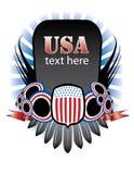 знамя США Стоковое Изображение