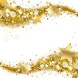 Знамя с звездами золота иллюстрация вектора