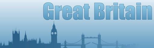 Знамя с изображением визирований Великобритании бесплатная иллюстрация