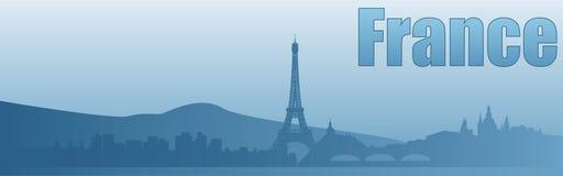 Знамя с изображением визирований Франции иллюстрация вектора