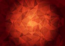 Знамя с полигональной картиной на красной предпосылке бесплатная иллюстрация