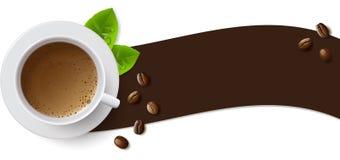 Знамя с чашкой кофе Стоковые Изображения RF