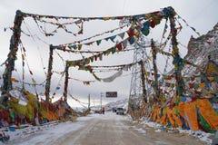 Знамя Тибета Стоковая Фотография