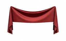 Знамя ткани на белой предпосылке Стоковые Изображения RF