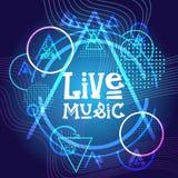 Знамя фестиваля плаката концерта живой музыки иллюстрация вектора