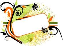 знамя флористическое Стоковая Фотография