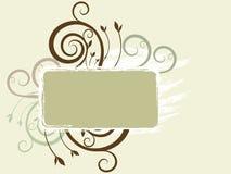 знамя флористическое Стоковое Изображение RF