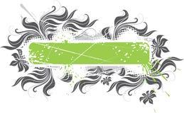 знамя флористическое Стоковое Фото