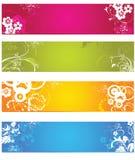 знамя флористическое Стоковые Изображения RF